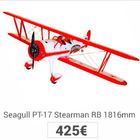 seagull PT-17 stearman red baron