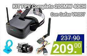 kit fpv completo con gafas vr007