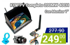 kit fpv completo con monitor de 7