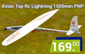 avión velero lightning iniciación