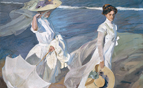 Women Walking on the Beach, Sorolla 1909